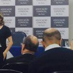 Dra. Luciana Cristina Ângelo na Associação Comercial de São Paulo